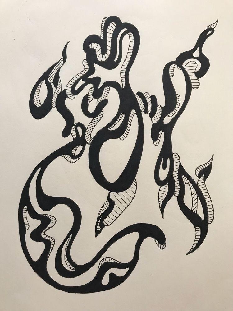 Lines// 9x12 ink paper - hades80s   ello
