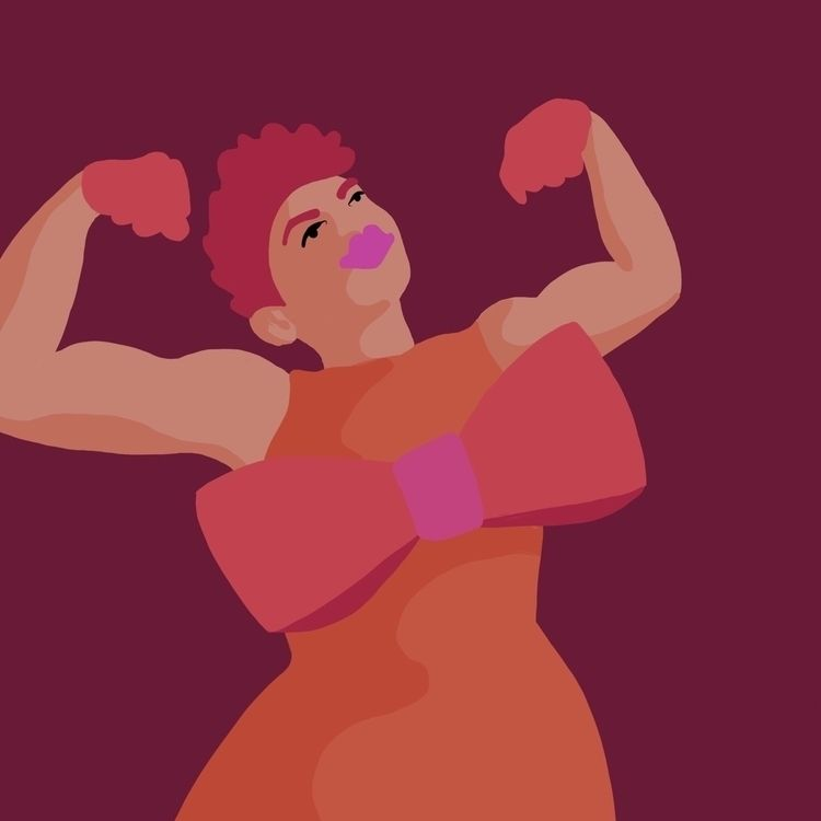strong! fearless! fight  - womenartists - andreaforgacs | ello