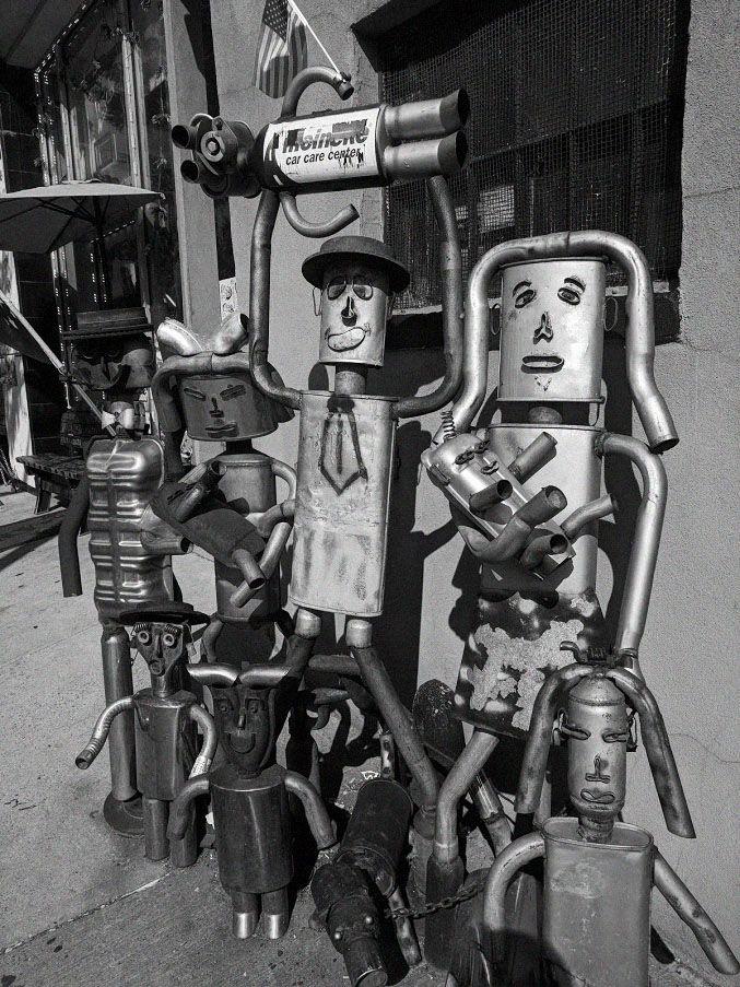 Robots South Slope - robot, folkart - michaelmillerstudio | ello