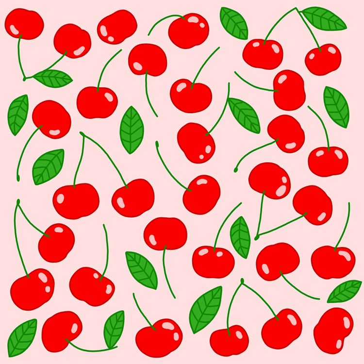 illustration, pattern, cherries - ashleighgreen | ello