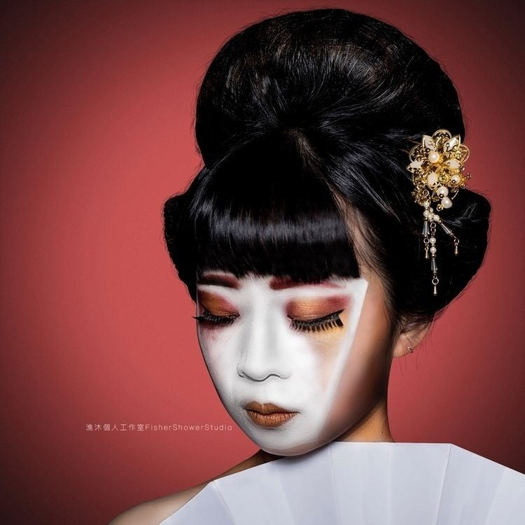 Geisha - AvantGarde, Japan, Hairstyle - fishershowerstudio | ello