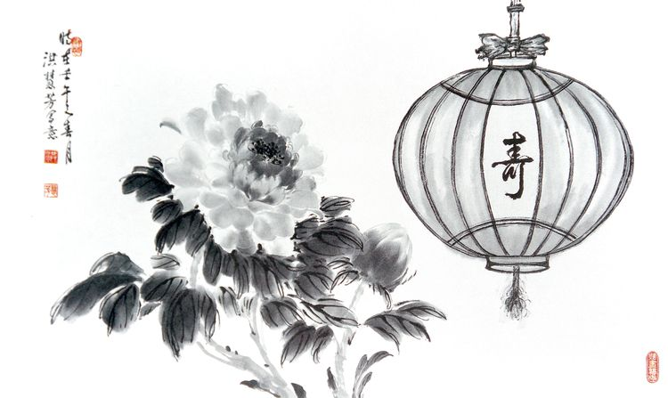 添燈富貴 Original painting 洪慧芳 Work - leechienwei | ello