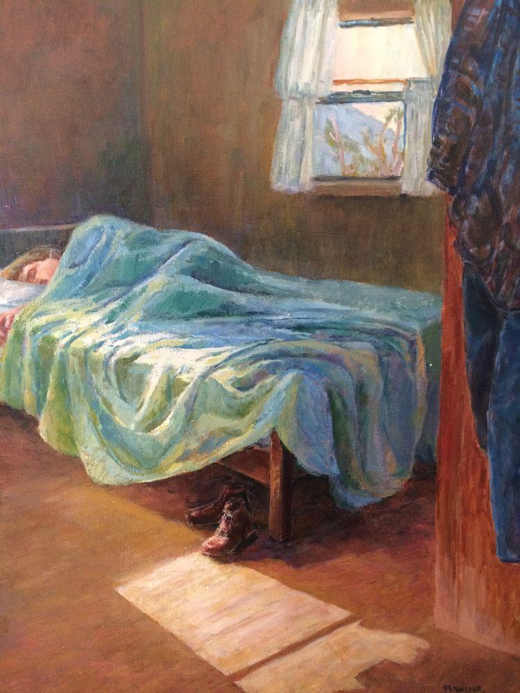 Portrait sleepy man - art, oilpainting - marjoriemueller | ello