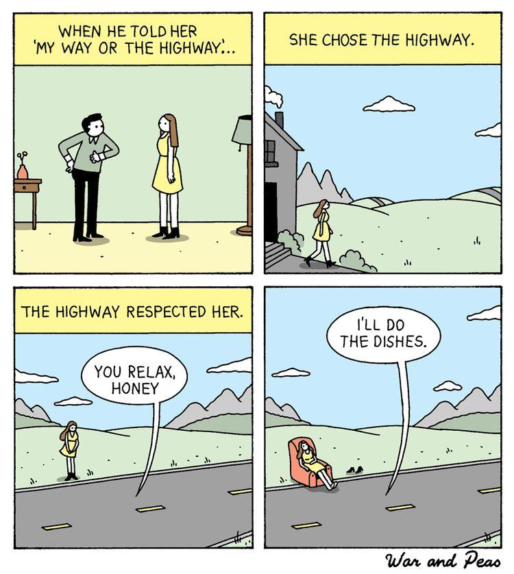 Highway - comic, webcomic, warandpeas - warandpeas | ello