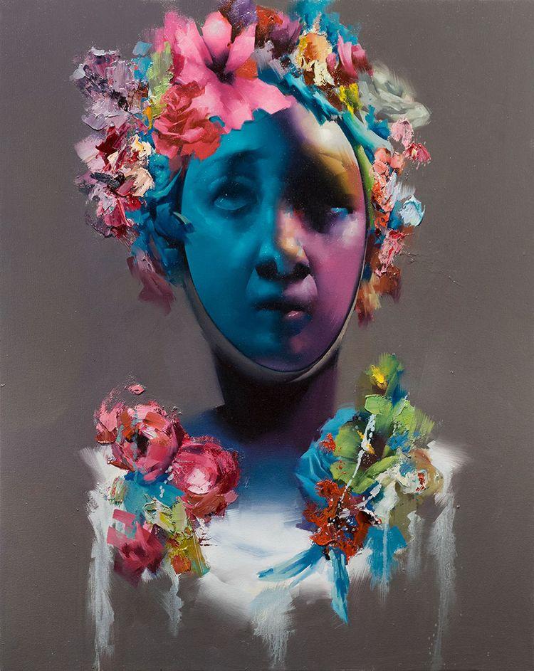 'Goddess' oil painting Akira Be - moderneden | ello