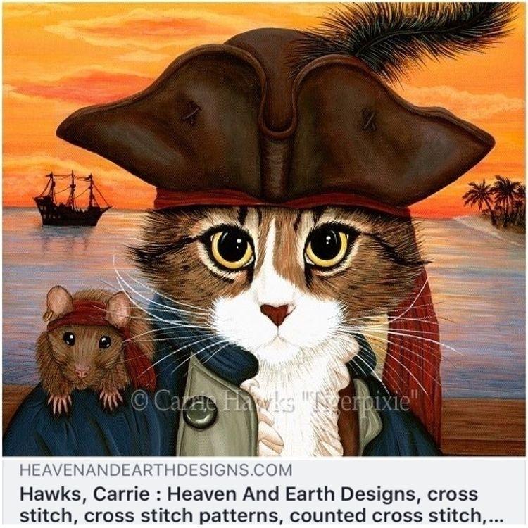 Heaven Earth Designs Cross Stit - tigerpixie | ello