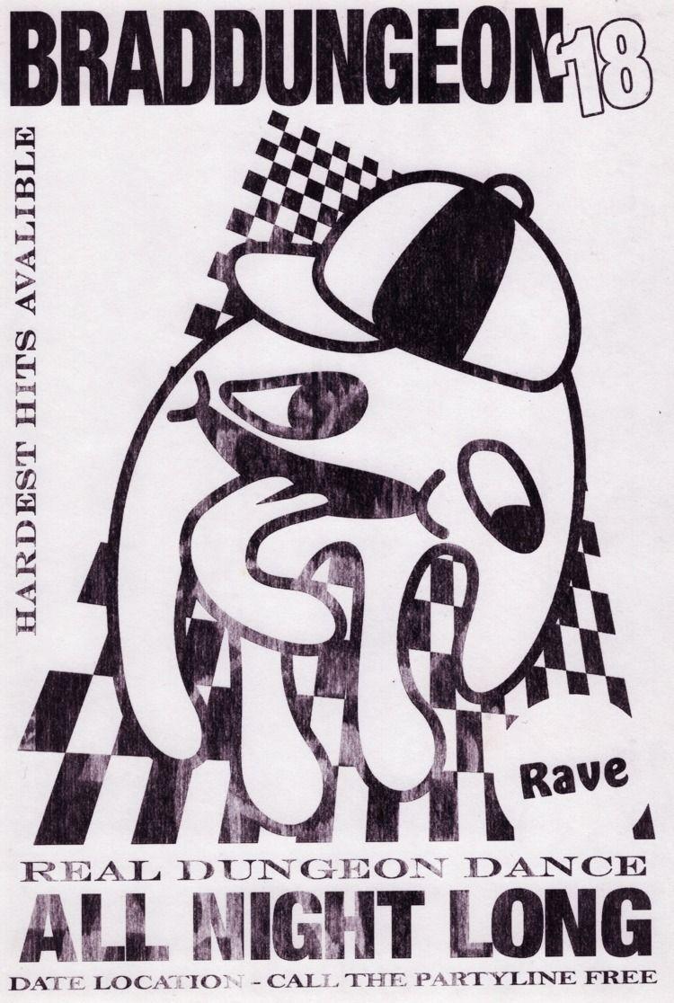 Rave Poster - 2018 Illustrator  - nutsack | ello
