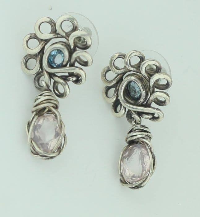 Earrings silver 950 Stone Topaz - mrandmrsmacedo | ello