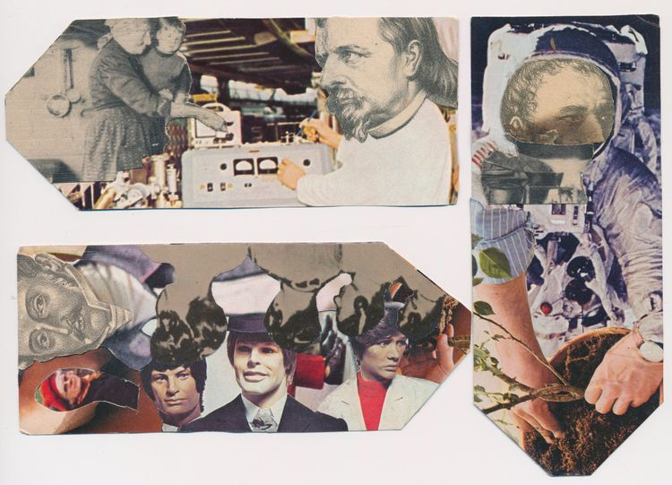 Wonderful heads Cédric Cordrie - papiergedanken-collage-art | ello