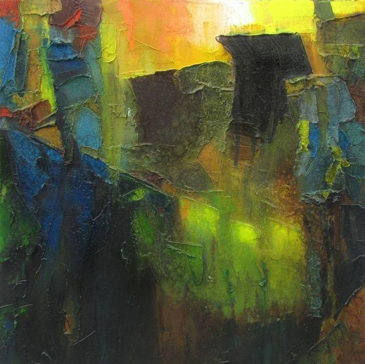 oil canvas | 18 - abstract, art - abhishekkumarartist | ello