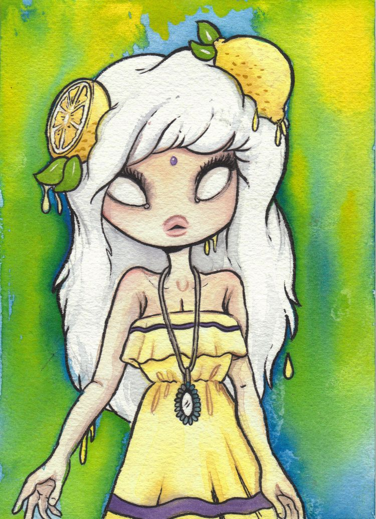 Lemon Drop! fun watercolor fini - smushbox | ello