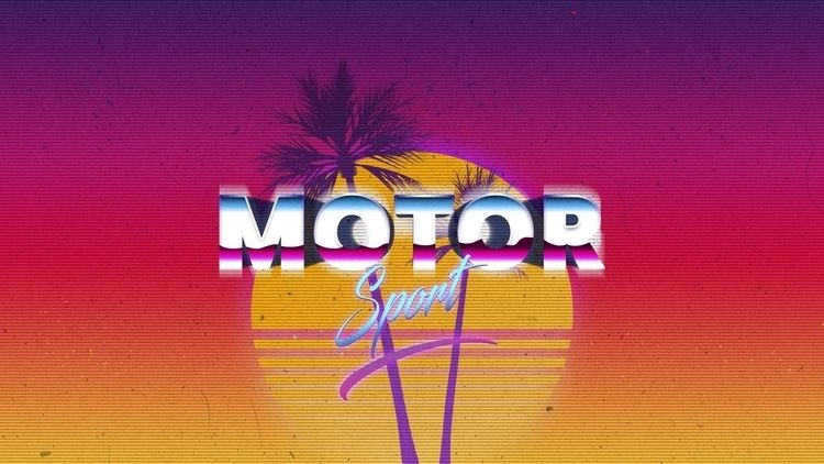 MOTOR SPORT - Outrun style art  - johannaq | ello