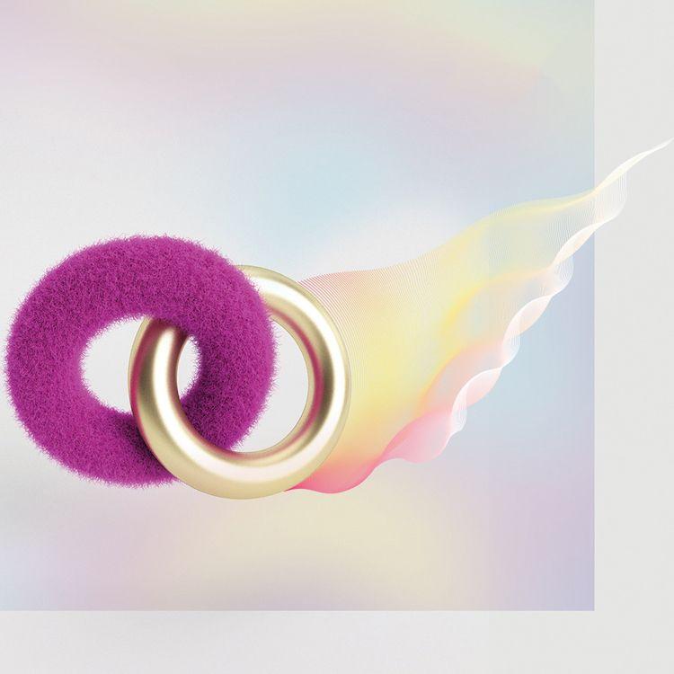 Rings Fire - Fur, Gold, LineWork - verastudio | ello
