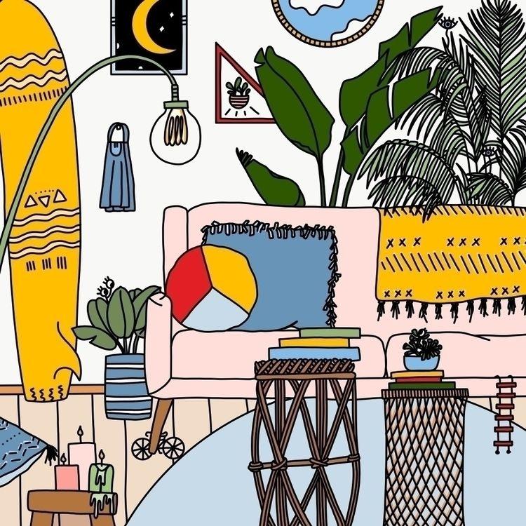 Surf Room Sunshine Aztec - digitalart - oktdesign | ello