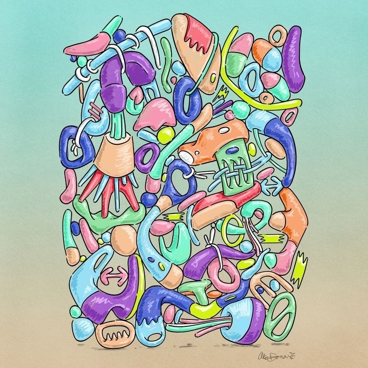illustration, doodle, abstract - alecodonovan | ello