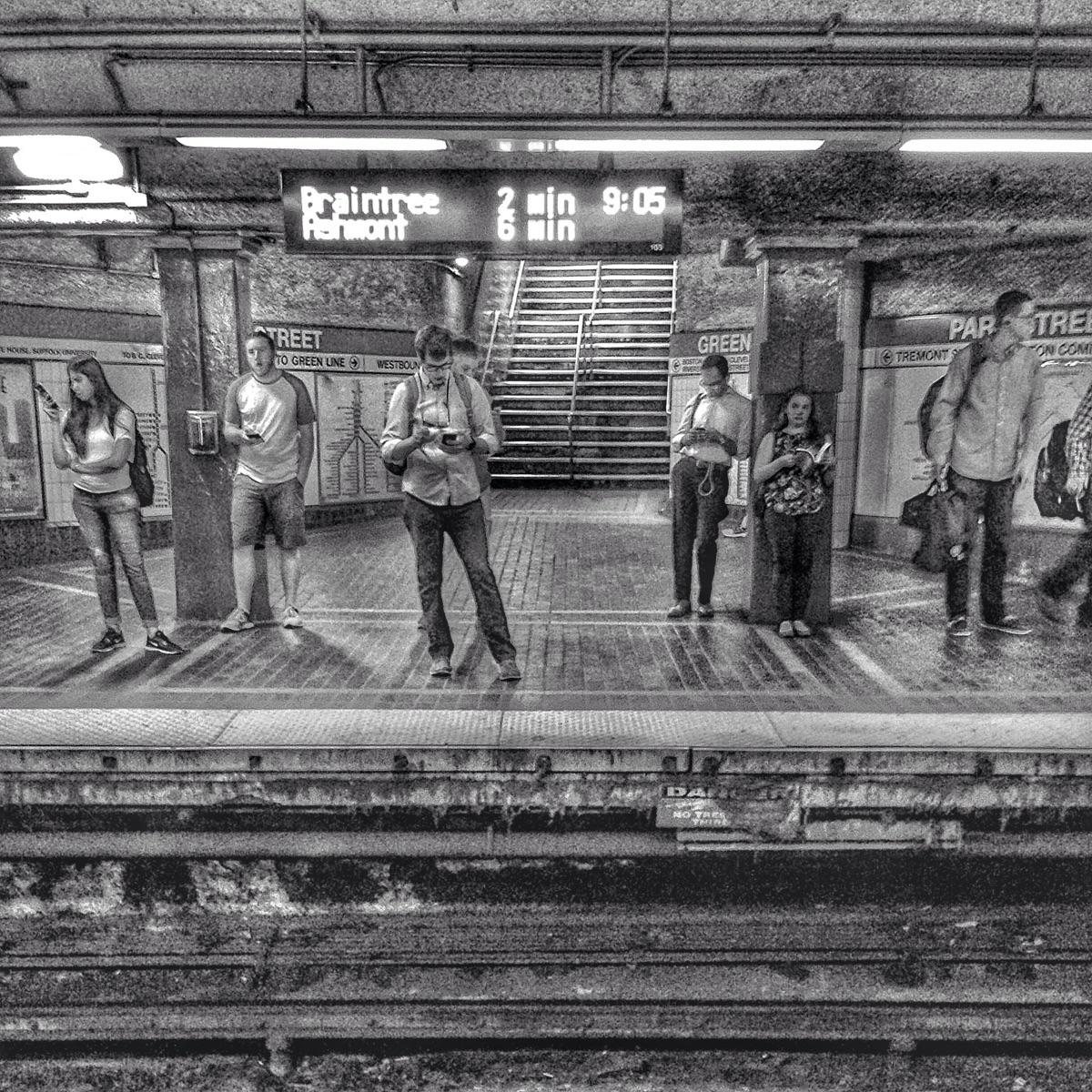 strangers train theT - underground - electrachrome   ello