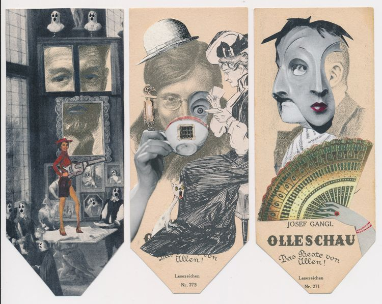 great set Caroline van Sluijs​ - papiergedanken-collage-art | ello