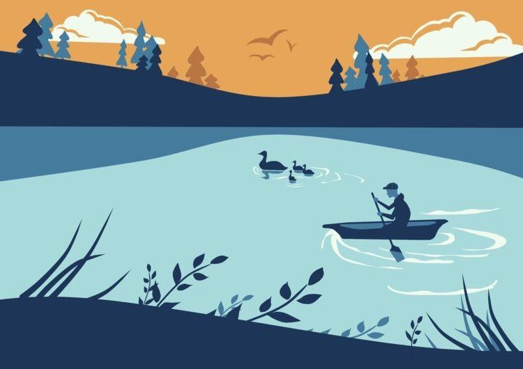 'Boating Boy' digital illustrat - stylusarts | ello
