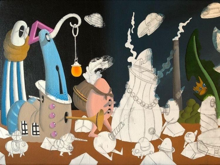 wip, art, paint, painting, surrealism - jimmy-p   ello