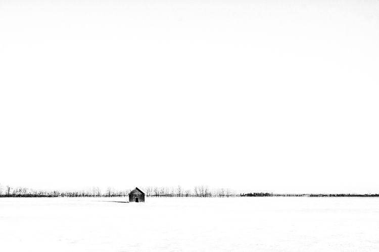 Settlers - minimalism, snow, blackandwhite - jeff_day | ello