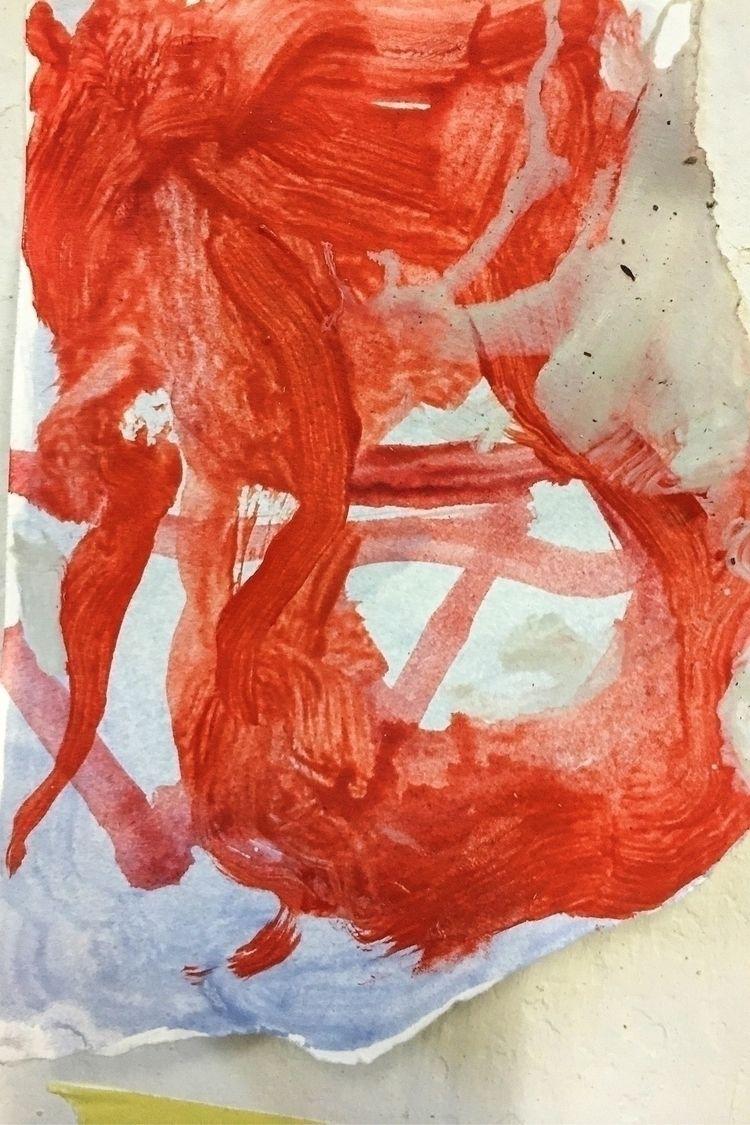 Fooling colour - studio, red, paint - yuliavirko | ello