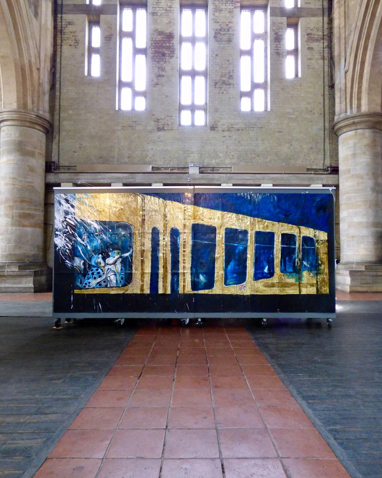 'Golden Train' installed Left B - phill_hopkins | ello