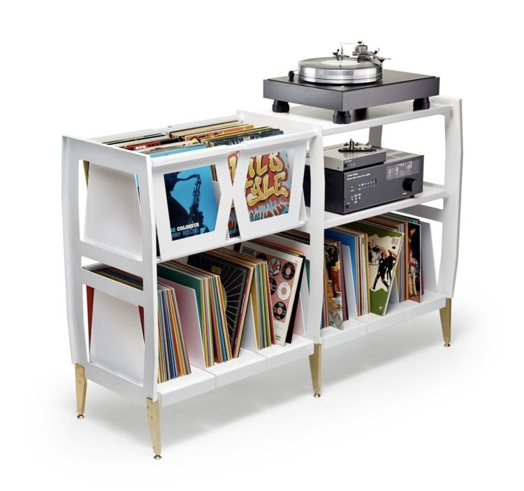 retro vinyl console Wax Rax - design - red_wolf | ello