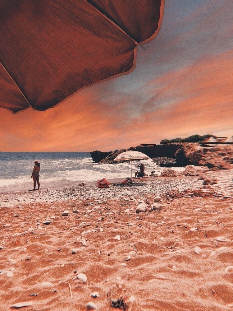 Burn flames - beach, fire, sky, clouds - kyworld | ello