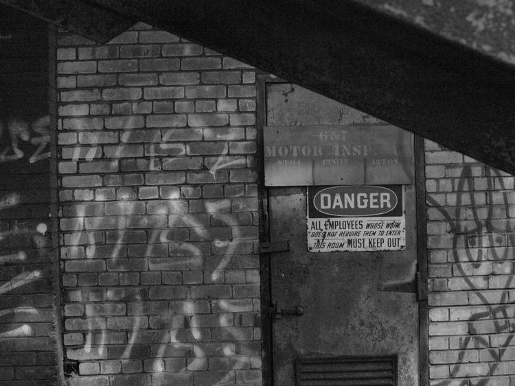 Danger Door - photography, blackandwhite - futureluddite | ello