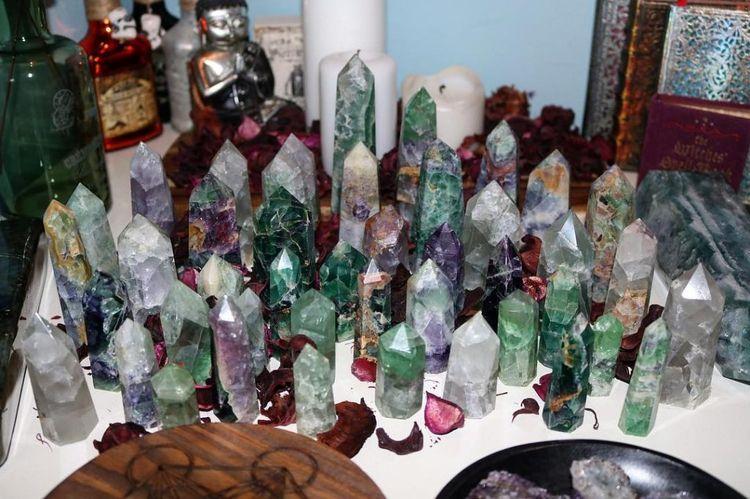 healingcrystals, crystals, rainbowfluorite - kristalcave | ello