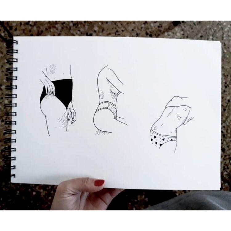 Erotic transitions. Ink pen - ink - den_rosas | ello