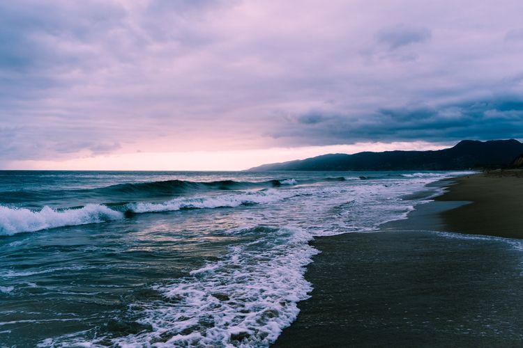maliblue - sunset, landscape, ocean - leahberman | ello