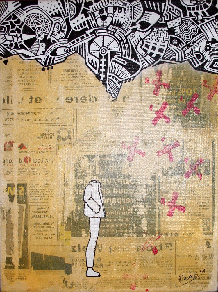 head - coffee, markers, newspaper - rhodis | ello
