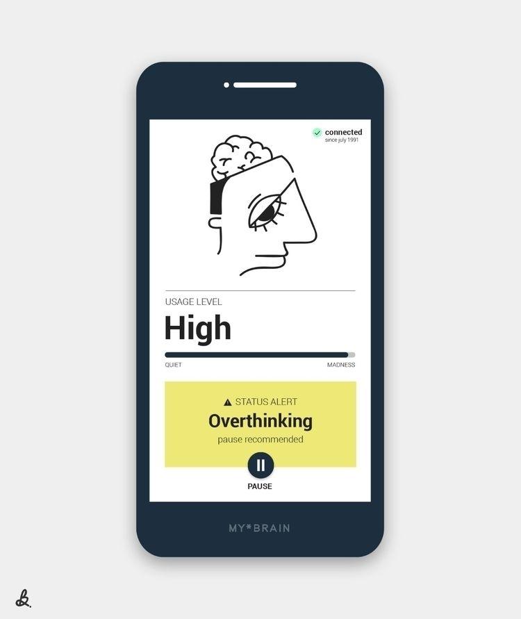 overthinking - illustration, graphicdesign - ilariab | ello
