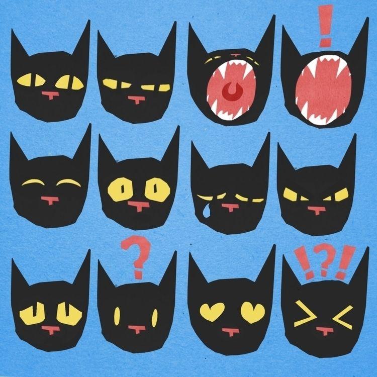 Cat face Digital collage 2018 - illustration - bitweirdthat | ello