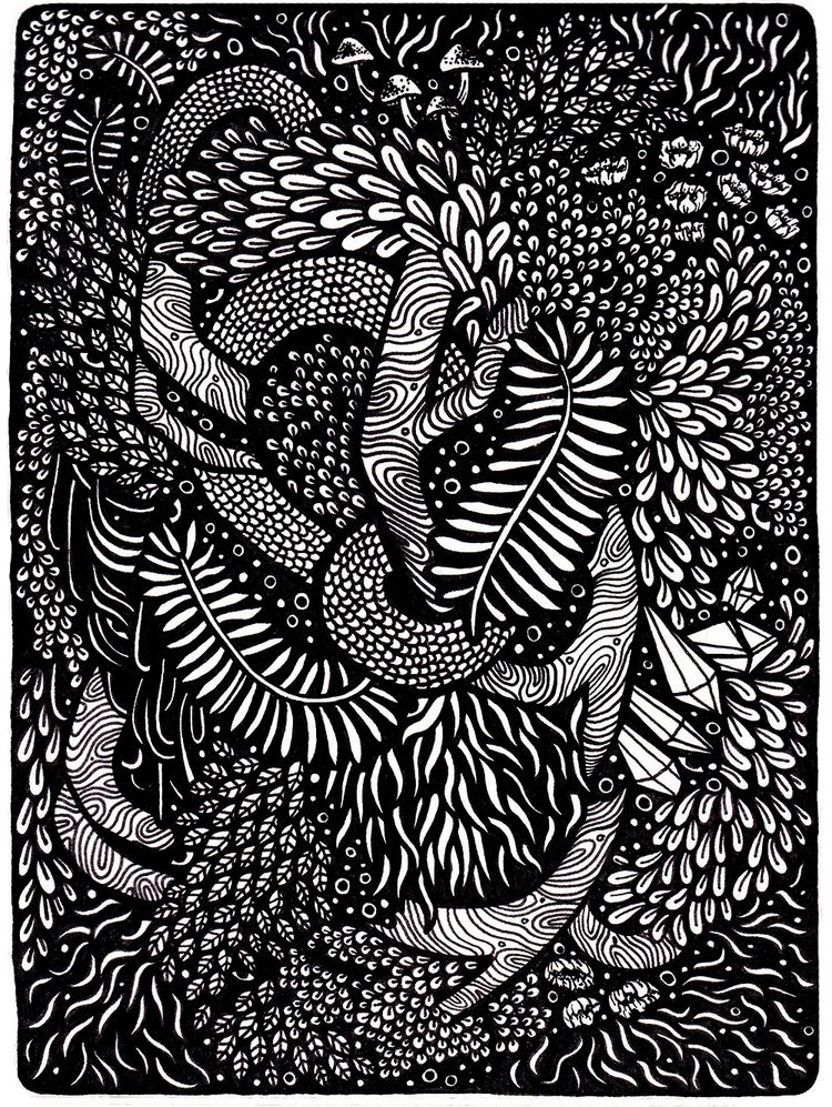 piece. Black fineliner, A5 sket - ebroughton | ello