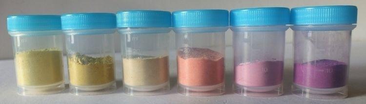 6 pigments fabriqués à partir d - damour | ello