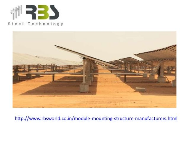 Solar Panel Mounting Structure  - rbsworld121 | ello