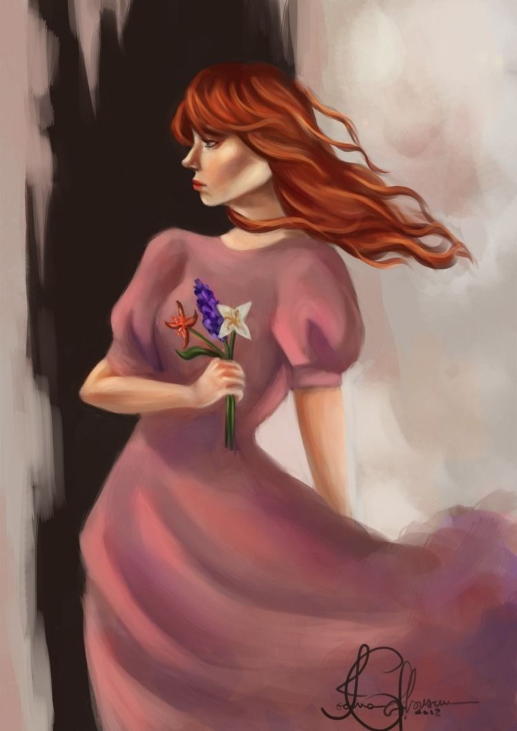 Digital painting inspired Flore - gaby_thedragon | ello