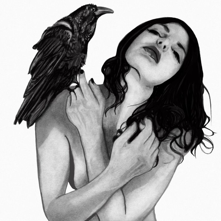 Raven Amanda Stalter Charcoal s - amandastalter   ello