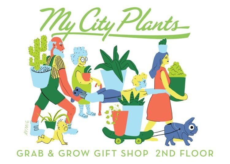 Plant Shop Banner - rymie, illustration - rymie | ello