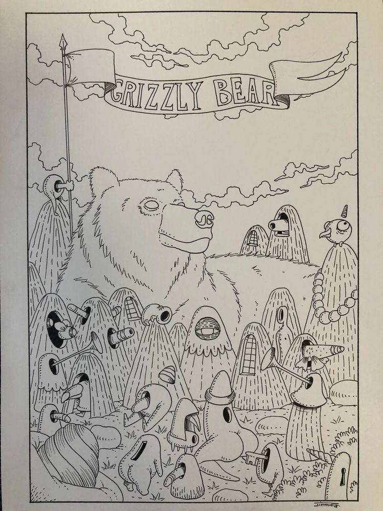 grizzly, 1day1animal, animal - jimmy-draws   ello