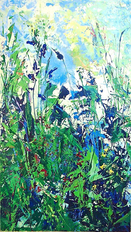 Wild Irises ( 15 1/2w 27h ) Oil - dvrainville | ello