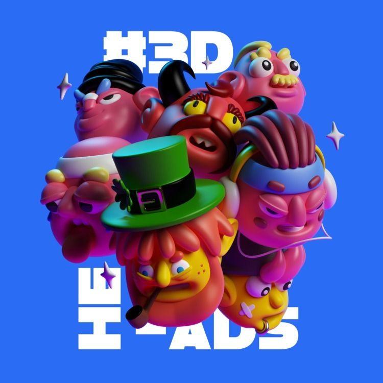 3D heads, watch full project Fo - oscarasecas   ello
