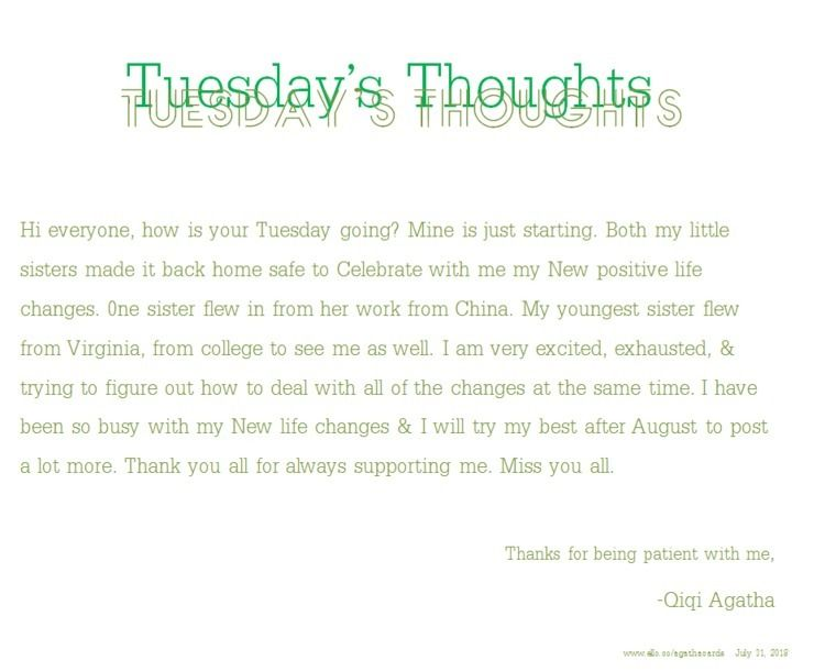 Happy Tuesday!! Tuesday Thought - agathacards | ello