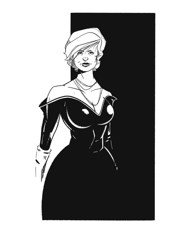 Dress impress - illustration, drawing - jferreirastudio | ello