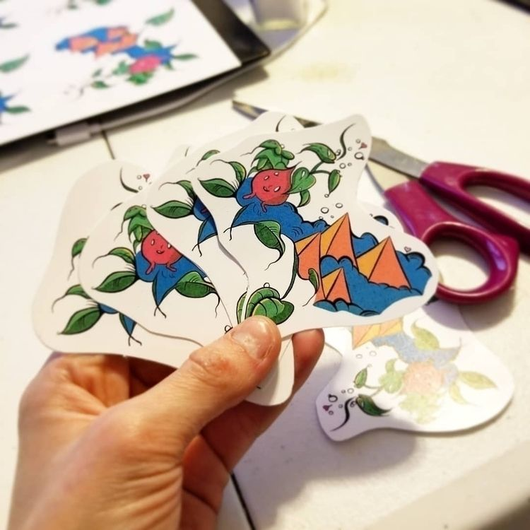 Nature Blooms Handmade Stickers - loramarshdesign | ello