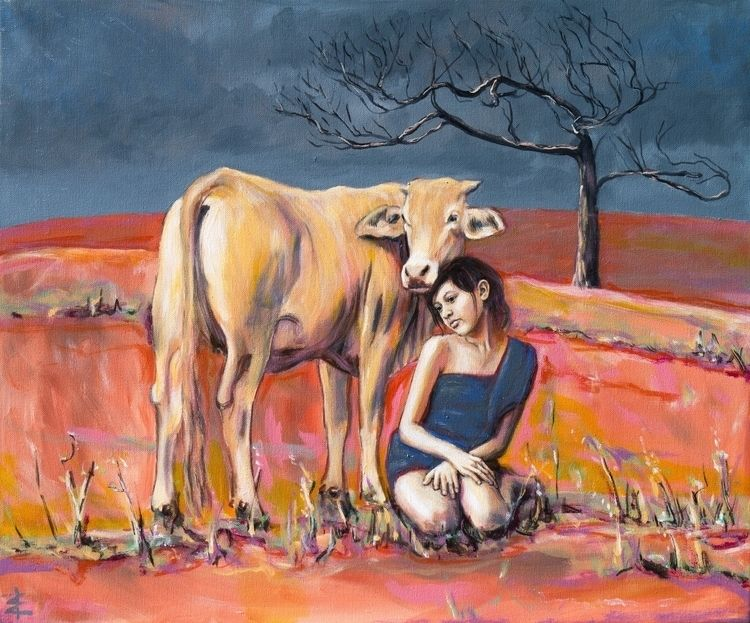 Girl cow - girl, pets - dillysuenos | ello