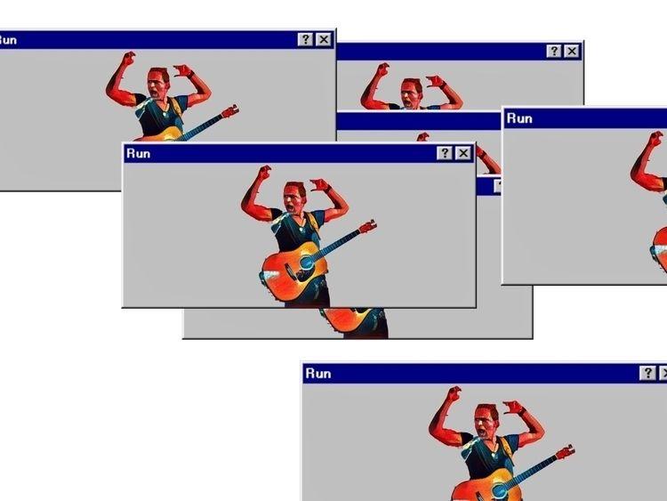 Digital fighter Run - art, illustration - jbkhq   ello