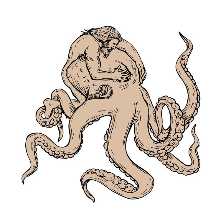Hercules Fighting Giant Octopus - patrimonio | ello